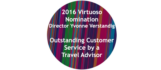 '2016 Virtuoso Nomination Director Yvonne Verstandig Outstanding Customer Service by a Travel Advisor' in Australia