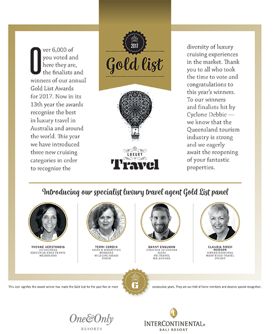 Luxury Travel – Gold List