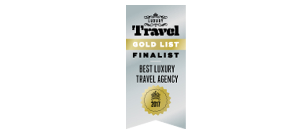 2017 Gold List Finalist Luxury Travel Magazine
