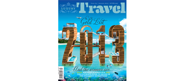 2013 Gold List Finalist Luxury Travel Magazine